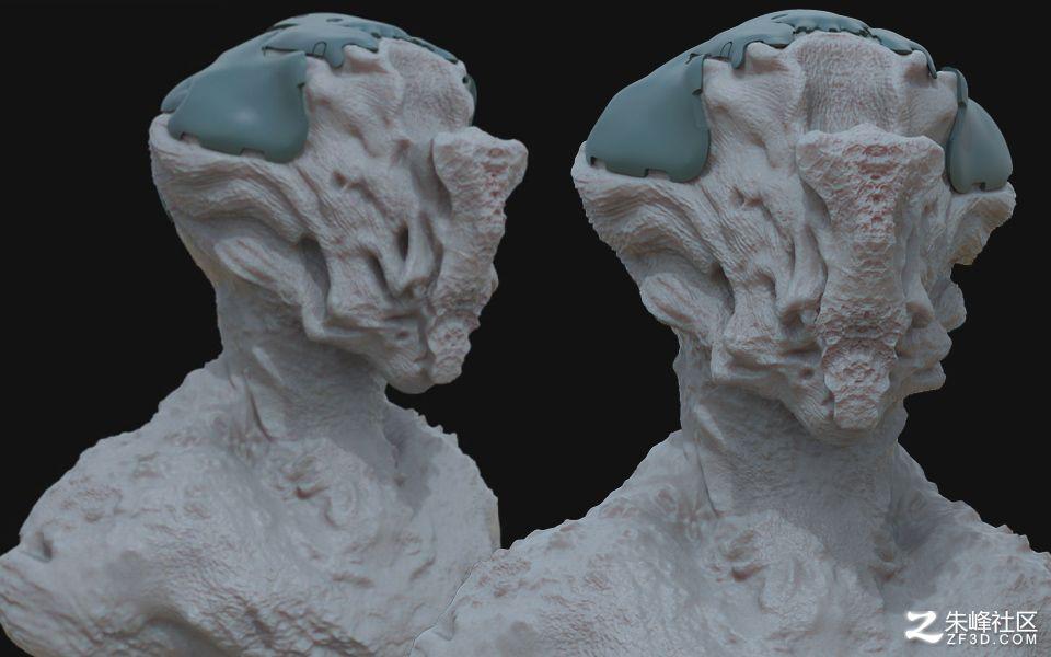 60组怪物皮肤zbrush深度贴图
